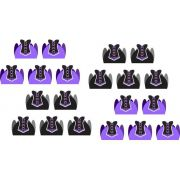 50 forminhas, 50 mini colheres lilás  + 50 copinhos