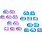 50 forminhas, 50 mini colheres  Chá revelação (Ursinho e Ursinha) + 50 copinhos
