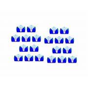 50 forminhas, 50 mini colheres e 50 mini copinhos Urso Baloeiro