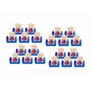 50 forminhas, 50 mini colheres e 50 mini copinhos Urso Marinheiro