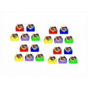 50 forminhas, 50 mini colheres Tie Die + 50 copinhos