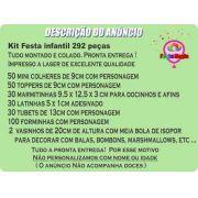 Kit Festa Infantil Super Heroínas 292 Peças