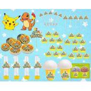 Kit Festa Pokemón (pikachu) 143 Peças (20 pessoas)