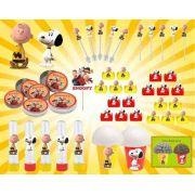 Kit Festa Infantil Snoopy 143 Peças (20 pessoas)