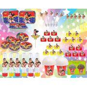 Kit Festa Mulher Maravilha 160 peças (20 pessoas)