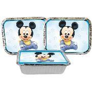 Kit Festa Infantil Mickey Baby 160 Peças (20 pessoas)