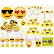 Kit Festa Infantil Emoji 143 Peças (20 pessoas)