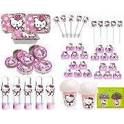 Kit Festa Infantil Hello Kitty 292 Peças (30 pessoas)