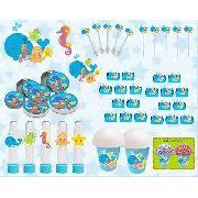 Kit Festa Infantil Fundo Do Mar 265 Peças (30 pessoas)