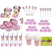 Festa Minnie Baby rosa 99 peças (10 pessoas)