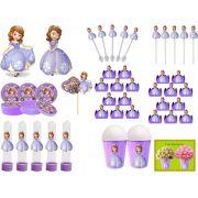Kit festa Princesa Sofia 143 Peças (20 pessoas)