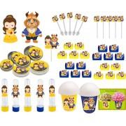 Kit festa A Bela e a Fera Baby (Cute) 143 peças (20 pessoas)
