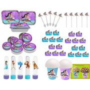Kit Festa  Aladdin e Jasmine 160 Peças (20 pessoas)