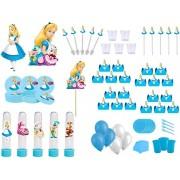 Kit festa Alice no País das Maravilha 363 peças (20 pessoas)