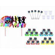 Kit festa Anos 70 (105 peças ) 10 pessoas)