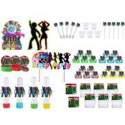 Kit festa Anos 70 (113 peças) 10 pessoas