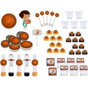 Kit festa Basquete Ball 153 peças (20 pessoas)