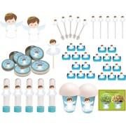 Kit festa Batizado menino 99 peças (10 pessoas)