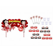 Kit festa Betty Boop  113 peças (10 pessoas)