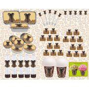 kit festa Chá de Lingerie Oncinha 160 peças (20 pessoas)
