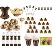 Kit festa Chá de Lingerie Oncinha 99 peças (10 pessoas)