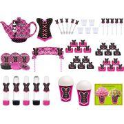 kit festa Chá de Lingerie (pink e Preto) 105 peças (10 pessoas)