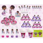 Kit festa Dra Brinquedo 99 peças (10 pessoas)