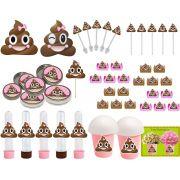 Kit festa Emoji cocô menina 143 peças (20 pessoas)