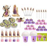 Kit Festa Enrolados (Rapunzel ) 99 peças (10 pessoas)