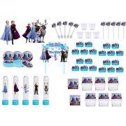 Kit festa Frozen 2 (azul claro) 173 peças  20 pessoas