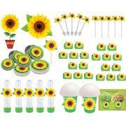 Kit festa Girassol 143 peças (20 pessoas)