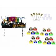 Kit Festa Harry Potter Clãs (colorido) 121 Peças (10 pessoas)