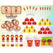 Kit festa Homem De Ferro Baby 160 Peças (20 pessoas)