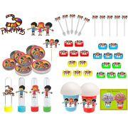 Kit Festa Infantil 3 Palavrinhas 265 Peças (30 pessoas)
