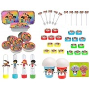 Kit Festa Infantil 3 Palavrinhas 352 Peças (50 pessoas)