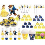 Kit festa Infantil A Bela e a Fera 143 peças (20 pessoas)