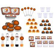 Kit festa infantil Basquete Ball 170 peças (20 pessoas)