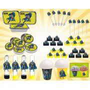 Kit festa infantil Batman 160 peças (20 pessoas)