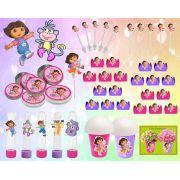 Kit festa Dora Aventureira 143 peças (20 pessoas)