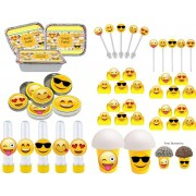 Kit Festa Infantil Emoji 160 Peças (20 pessoas)