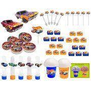 Kit Festa Infantil Hot Wheels 265 Peças (30 pessoas)