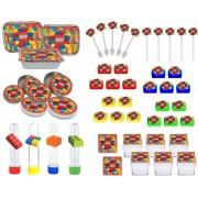 Kit Festa Infantil Lego 114 Pças (10 pessoas)
