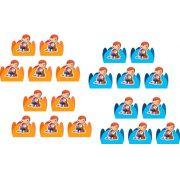 Kit festa Lelê e Linguiça (Pat the Dog) 143 peças (20 pessoas)