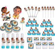Kit Festa Infantil Moana Baby 293 Peças (30 pessoas)