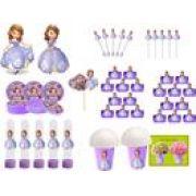 Kit Festa Infantil Princesa Sofia 99 Peças (10 pessoas)