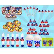 Kit Festa Infantil Sonic 160 peças (20 pessoas)
