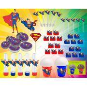 Kit Festa Super Homem (super Man) 143 Peças (20 pessoas)