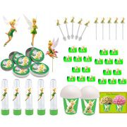 Kit festa Infantil Tinker Bell (Sininho) 99 peças (10 pessoas)