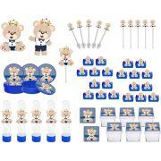 Kit Festa Ursinho Príncipe Azul Escuro 161 peças (20 pessoas)