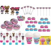 Kit Festa Lol Surprise (pink E Azul Claro) 99 Peças (10 pessoas)